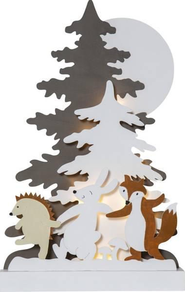Forest friends dekorasjon m/lys
